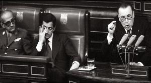 Gutiérrez Mellado, Adolfo Suárez y Blas Piñar.