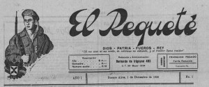 Famosa cabecera de la prensa carlista argentina