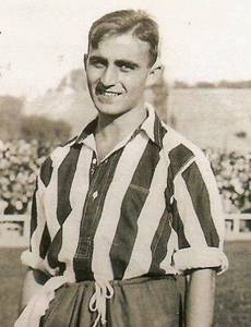 Monchín Triana con uniforme del Athletic Club de Madrid