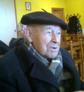 D. Félix Igoa Garciandía  en el Hogar del Jubilado, 17-XII-2013. Foto:JFG2013