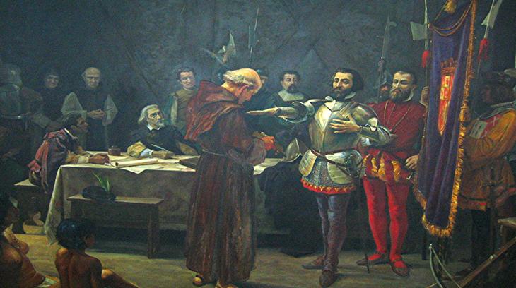 """El juramento de Hernán Cortés"""