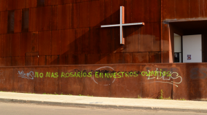 Pintadas en la Parroquia de Santa Mónica (Rivas Vaciamadrid)