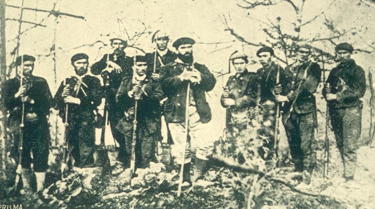 El cura SantaCruz con parte de su partida durante la 3º carlistada