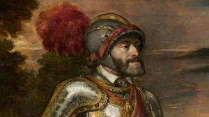 Detalle de Carlos V a caballo en Mühlberg (Tiziano)