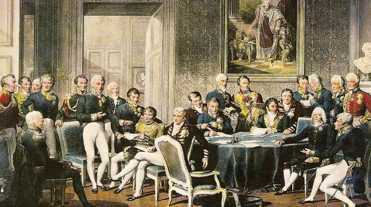 En el Congreso de Viena se trato de poner freno a los avances revolucionarios.