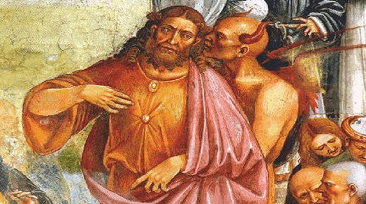 Detalle de El Anticristo por Luca Signorelli en la Catedral de Orvieto