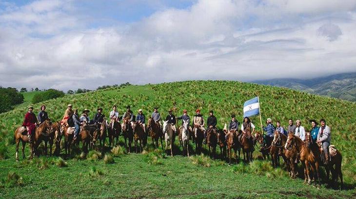 VI Cabalgata por la Hispanidad 2015, en la localidad de Los Planchones de la provincia argentina de Tucumán.