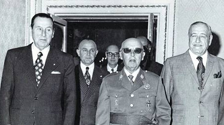 Perón con el Generalísimo Franco