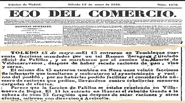 Ecos de la Partida de Palillos en la prensa de la época.