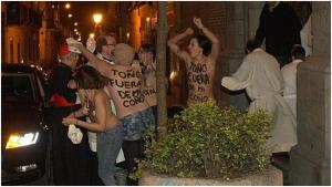 """El cardenal Rouco atacado por las feminiesta de Femen. """"Bienaventurados los perseguidos por causa de la justicia"""""""