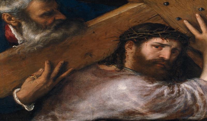 Cristo con la Cruz a cuestas. 1565. Tiziano. Óleo sobre lienzo, 67 x 77 cm. Museo del Prado, Madrid.