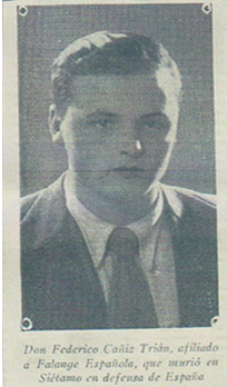 El falangista Federico Cañiz Trian