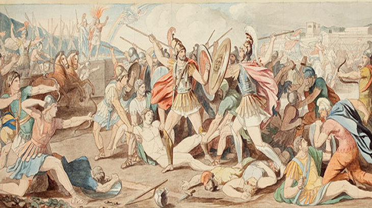 Disputa de griegos y troyanos, por José de Madrazo.