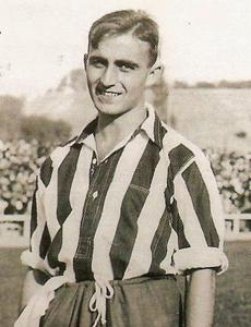Monchín Triana con uniforme del Athletic Club de Madrid
