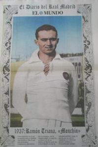 Monchin Triana con uniforme del Real Madrid