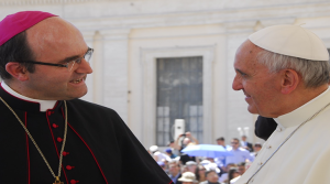 El Papa Francisco con el Obispo José Ignacio Munilla