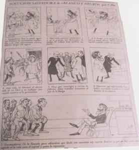 """La solución salvadora, por Cilla.Publicado en el Semanario Blanco y Negro el 4 de septiembre de 1901 y recogido en """"El Diario del Siglo XX pág. 7"""