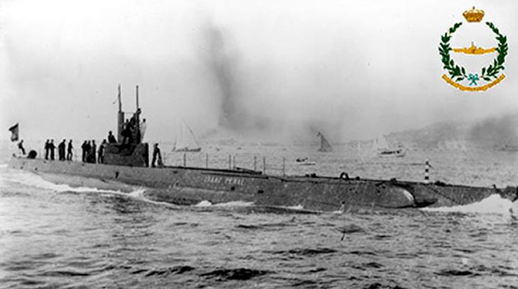 Primer submarino de la Armada Española, el Isaac Peral