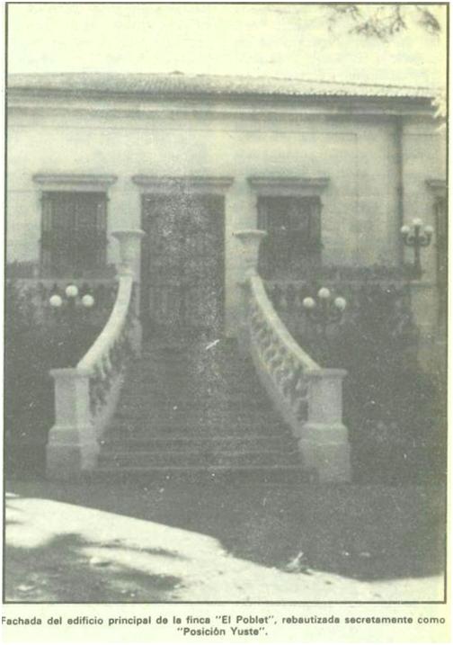 Fachada del edificio principal de la finca