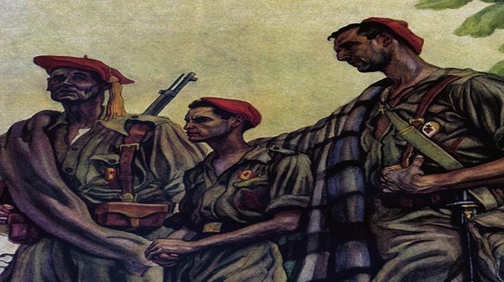 """Detalle de """"Tres generaciones"""", ilustración de C. Sáenz de Tejada"""