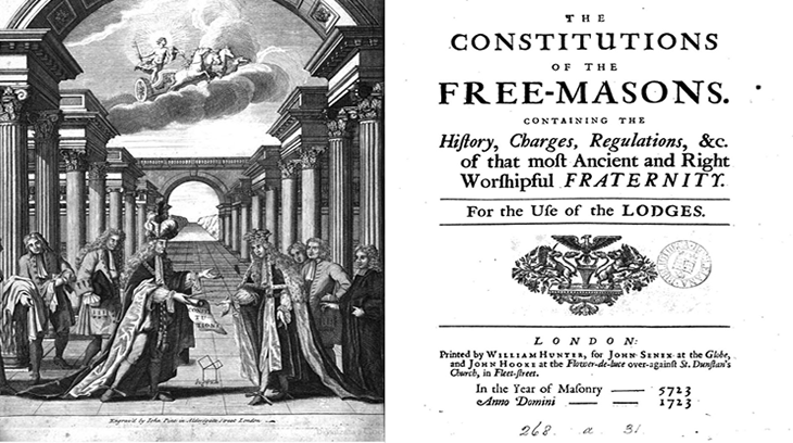 Las Constituciones de Anderson, 1723