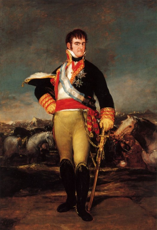 Fernando VII retratado por Goya
