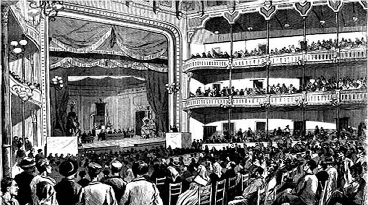 Primer Congreso Obrero en Barcelona - 1870