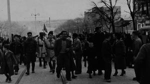 Las tropas nacionales fueron recibidas con entusiasmo en el centro de Barcelona