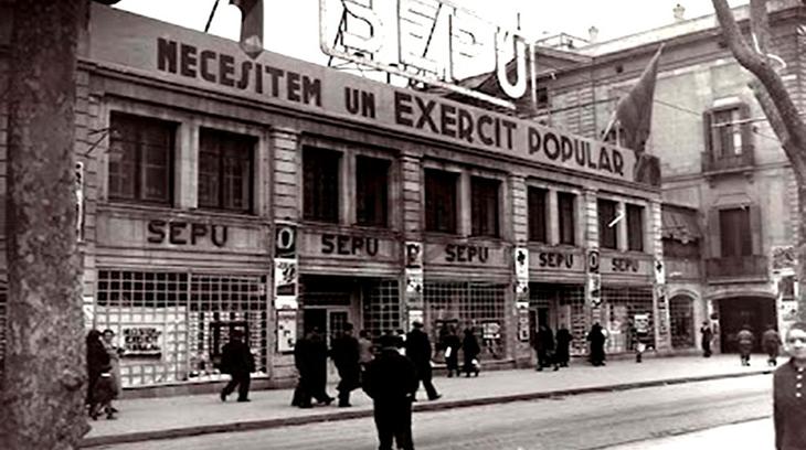 Barcelona durante la ocupación roja en 1937