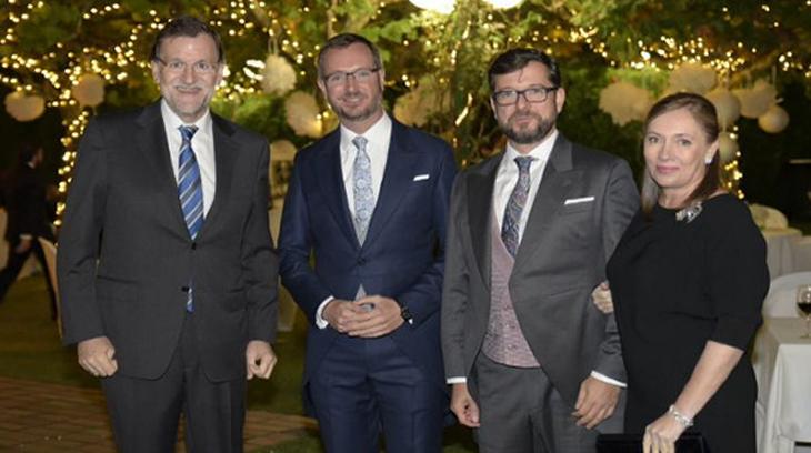 Rajoy en el gaymonio de su compañero de partido.