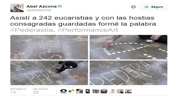 La sacrílega exposición financiada por el Ayuntamiento de Pamplona