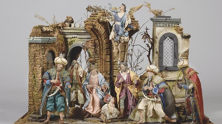 Belén napolitano del siglo XIX