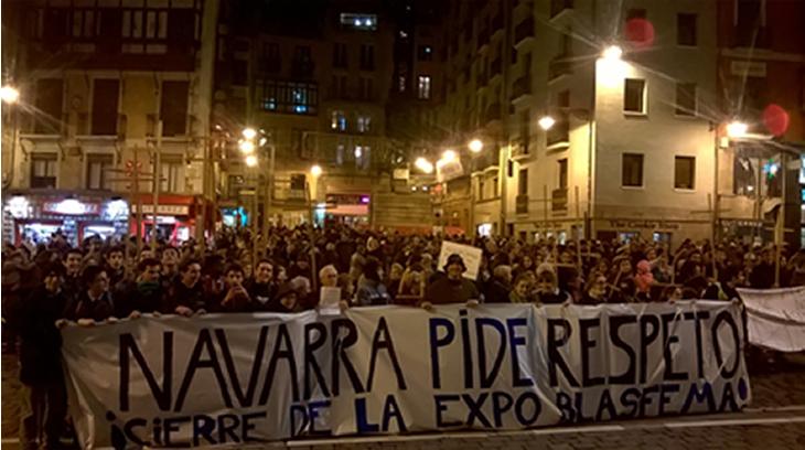 El pueblo Navarro se levanta contra los excesos de los sindios.