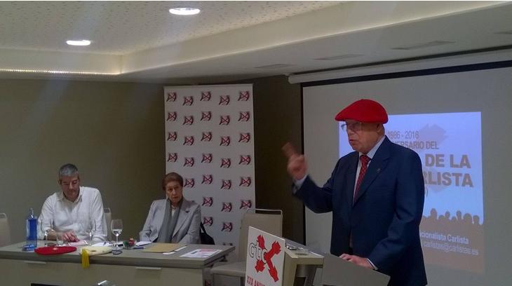 José Miguel Orts Timoner en los actos del XXX aniversario del Congreso de la Unidad Carlista (1986-2016) celebrados en Madrid el 21 de mayo de 2016.