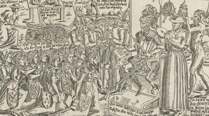 El trono de Alba, obra satírica de su gobierno en Flandes