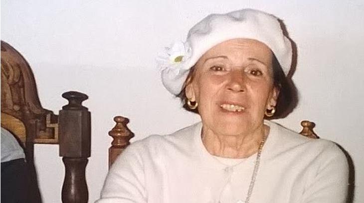 Rosario Baleztena en 1996, en los actos de Isusquiza, Álava (foto J.F. Garralda)